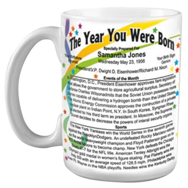 Unique Birthday Presents For Men: Year You Were Born Mug