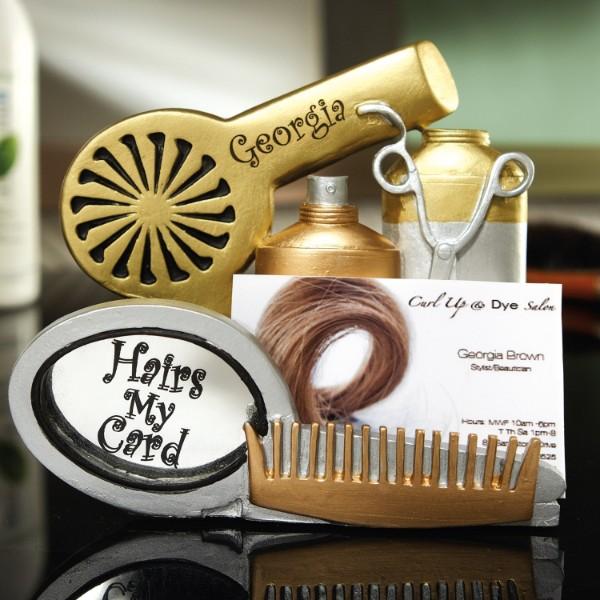 Hair Stylist Business Card Holder
