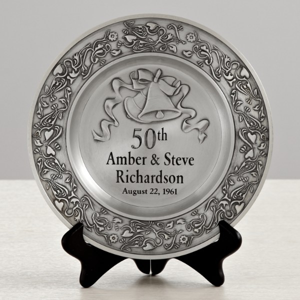 Gift Ideas For A 50th Wedding Anniversary: Anniversary Pewter Plate