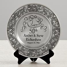 anniversary pewter platter