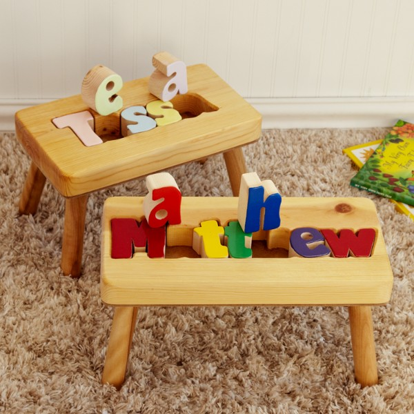 gifts personalized stools baby puzzle personal wooden stool step creations christmas birthday unique children gift toys boys boy puzzles 1st