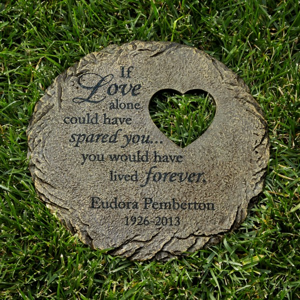 Memorial Heart Cut Out Stepping Stone