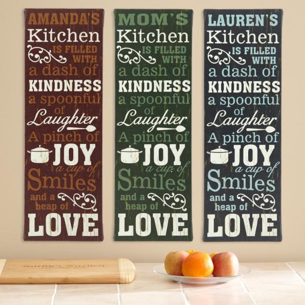 Kitchen Recipe Canvas