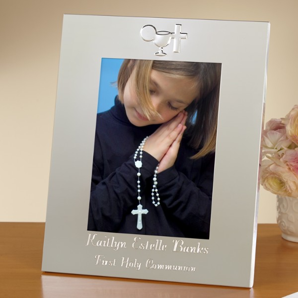 First Communion Frame Silver Frame 5 X 7