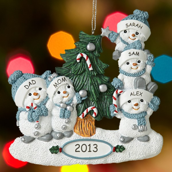 Christmas tree decorations personalized holliday decorations for Personalized christmas photo ornaments