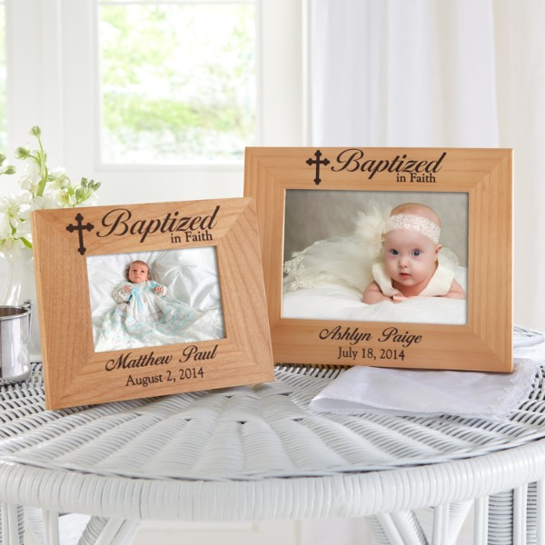Baptism wood frame - Gifts for baby christening ideas ...