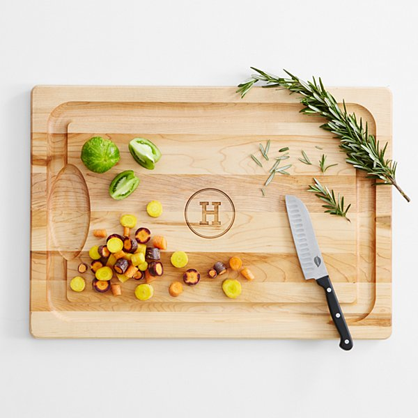 Monogrammed Wood Cutting Board