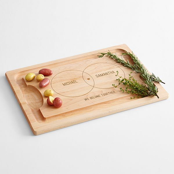 Couples Diagram Wood Cutting Board
