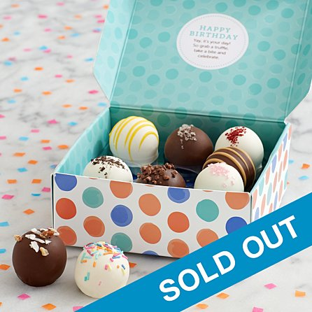 Groovy 9 Birthday Cake Truffles Cake Balls With Hidden Messages Personalised Birthday Cards Veneteletsinfo