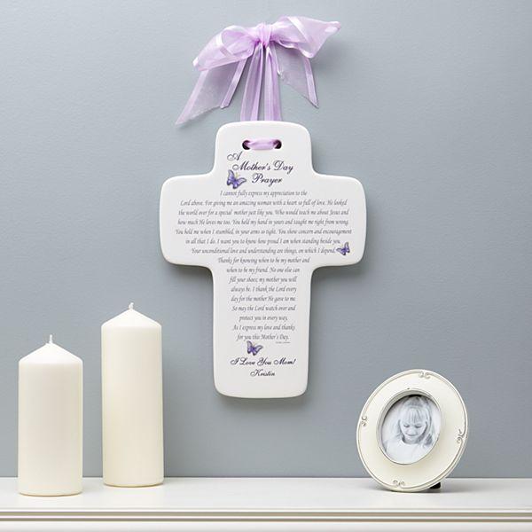A Mother's Prayer Ceramic Cross