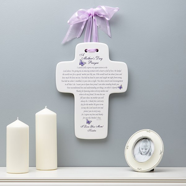 A Mother's Prayer Ceramic Cross