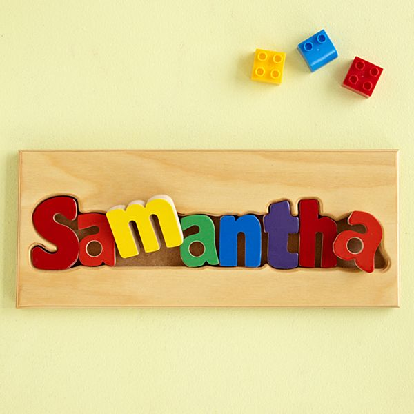 Name Puzzle Boards - Primary Colors