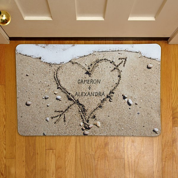 Heart in Sand Doormat - 17x27