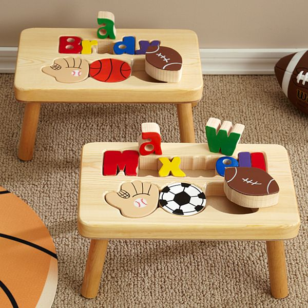 Sports Puzzle Step Stool