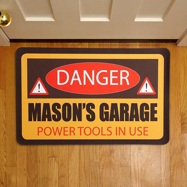 """Danger / Warning Doormats - 17"""" x 27"""""""