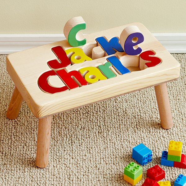 Two Name Puzzle Step Stool