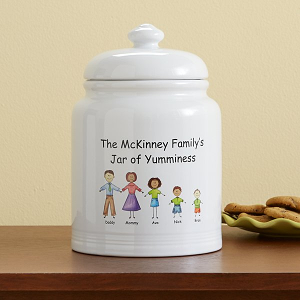 Friendly Family Characters Treat Jar