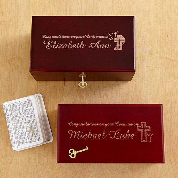 Locking Heirloom Communion & Confirmation Keepsake Box