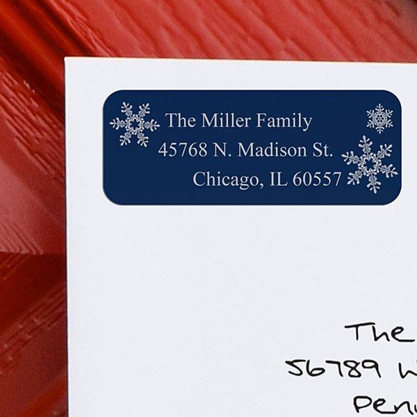 Snowflake Christmas Address Labels - Set of 150