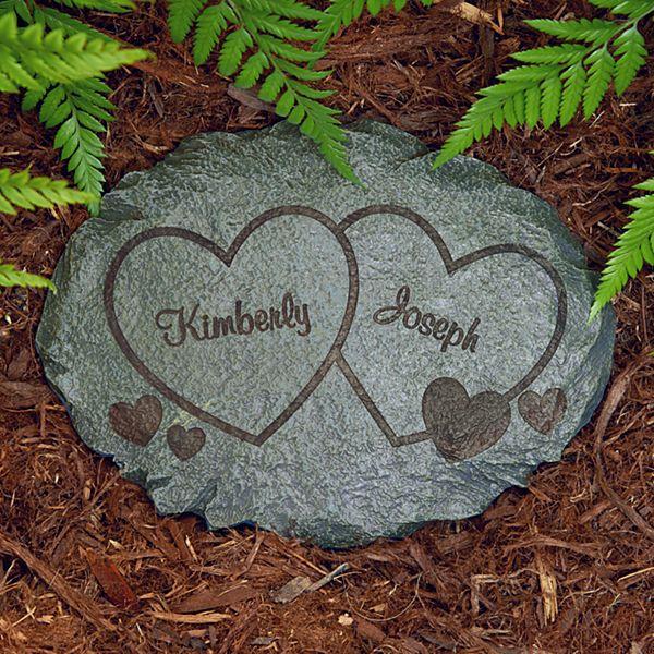 Two Hearts Garden Stone