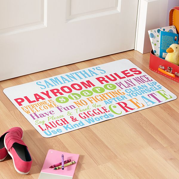 Playroom Rules Doormat