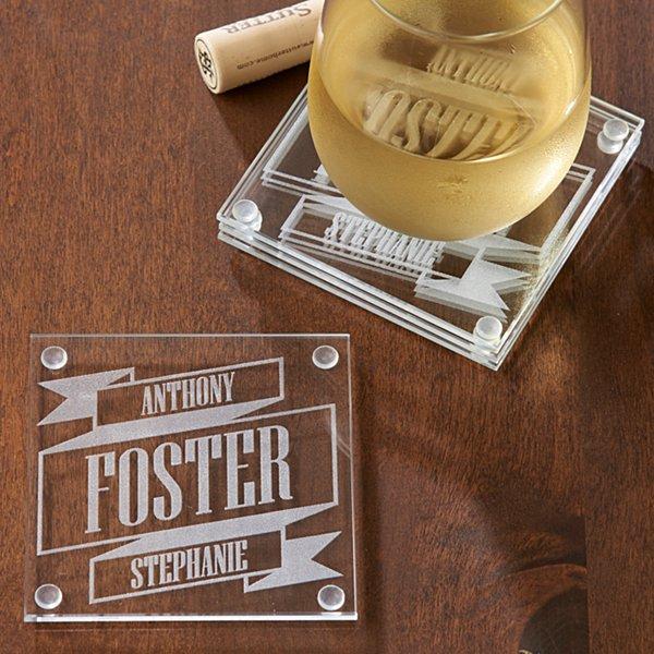 Better Together Banner Coaster Set - Set of 4