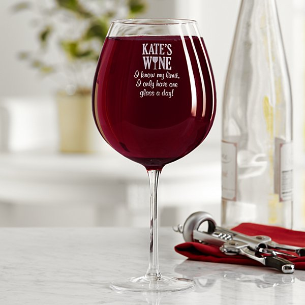 I Know My Limit Colossal Wine Glass