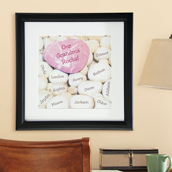 Heart Rocks Square Framed Print