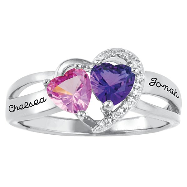 Two Hearts One Love Couple's Ring