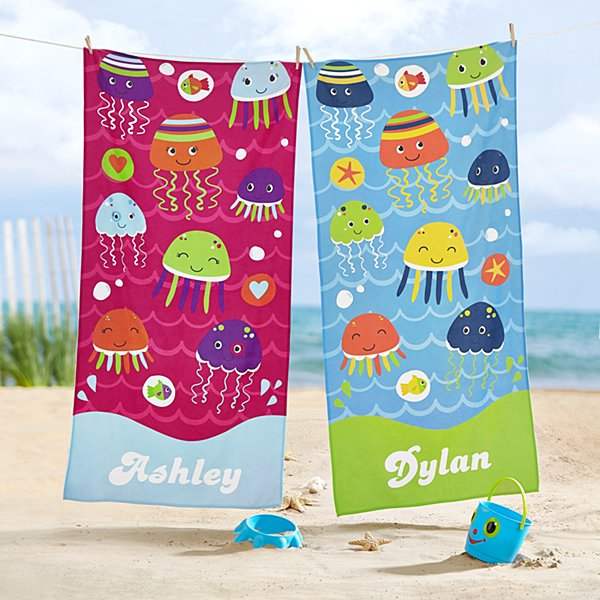 Joyful Jellyfish Beach Towel