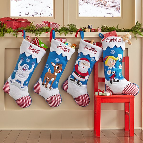 Rudolph Character Personalized Stockings