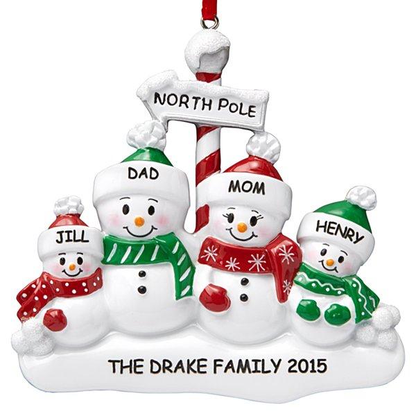 North Pole Family Ornament - 4