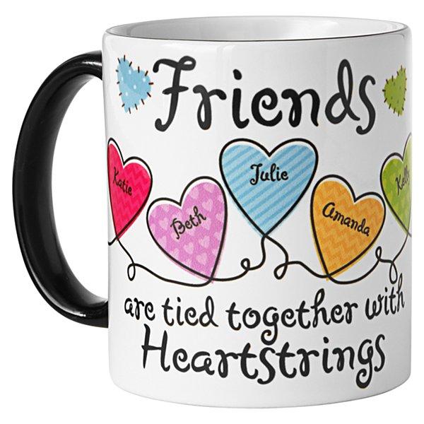 Friends Heartstrings Mug - Black Handle