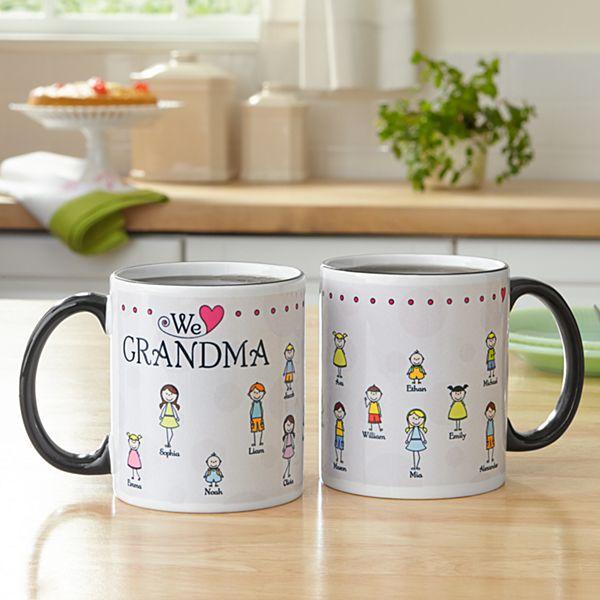 Tender Hearts Black Handle Mug