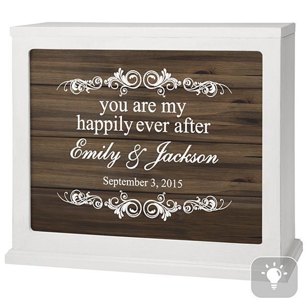 You Are My Happily Ever After Accent Light - Brown