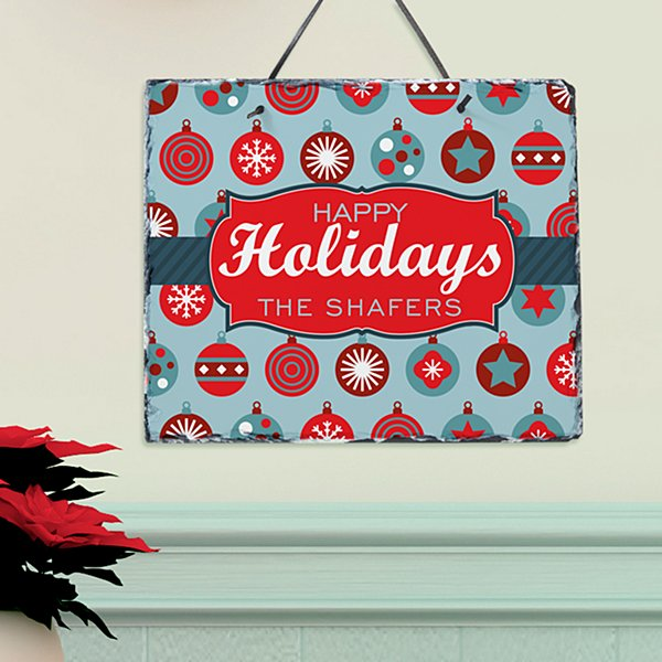 Holiday Ornament Slate