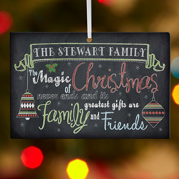 Magic of Christmas Rectangle Ornament