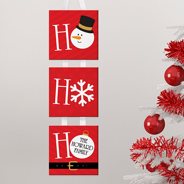 Ho Ho Ho-liday Hanging Mini Canvas