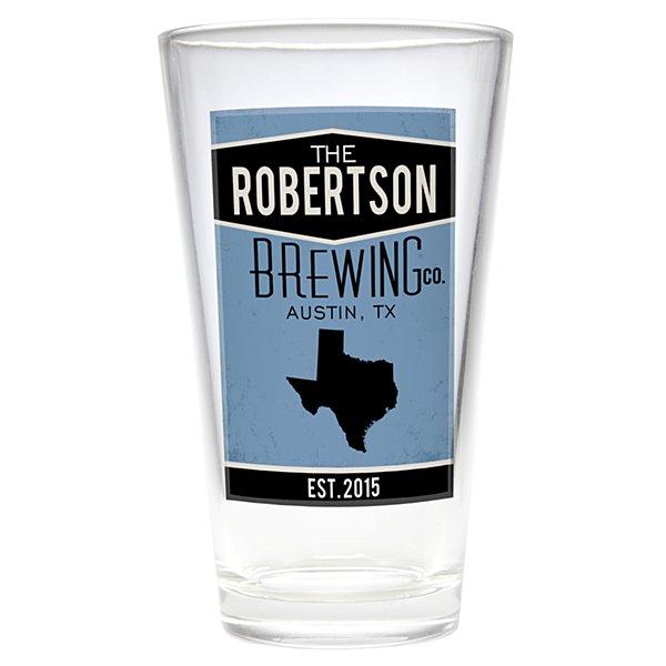Home State Pub Glass - Blue