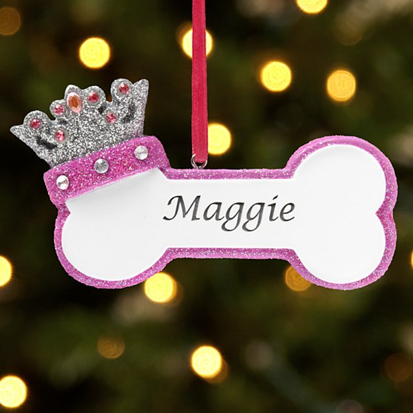 Princess Dog Bone Ornament