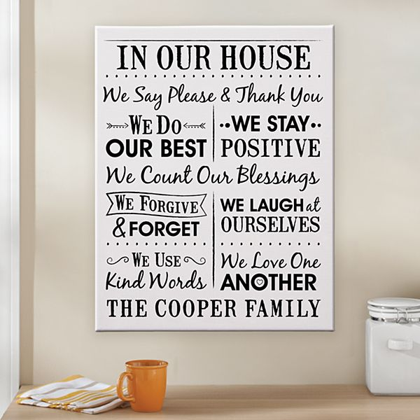 We Count Our Blessings Canvas