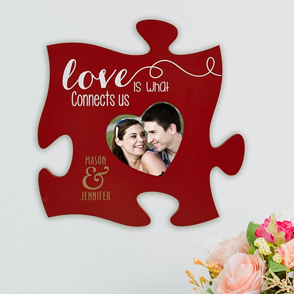 Love is a Perfect Fit Puzzle Plaque