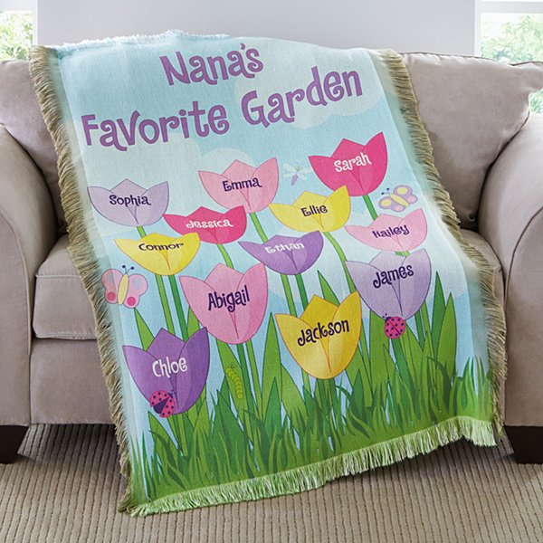 Tulip Garden Throw
