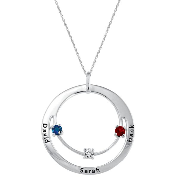 Family Circle of Love Birthstone Necklace