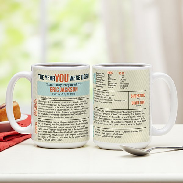 The Year You Were Born Mug