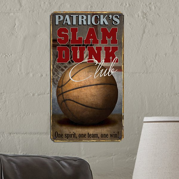 Slam Dunk Metal Sign