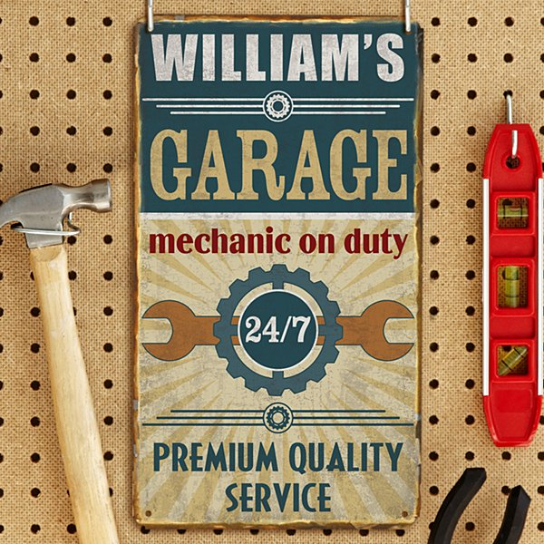 Mechanic on Duty Metal Sign