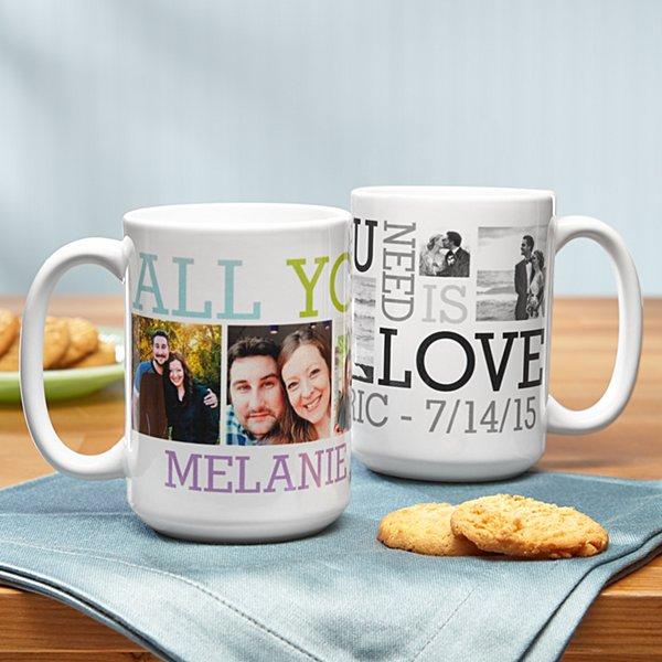 Love Photo Collage Mug