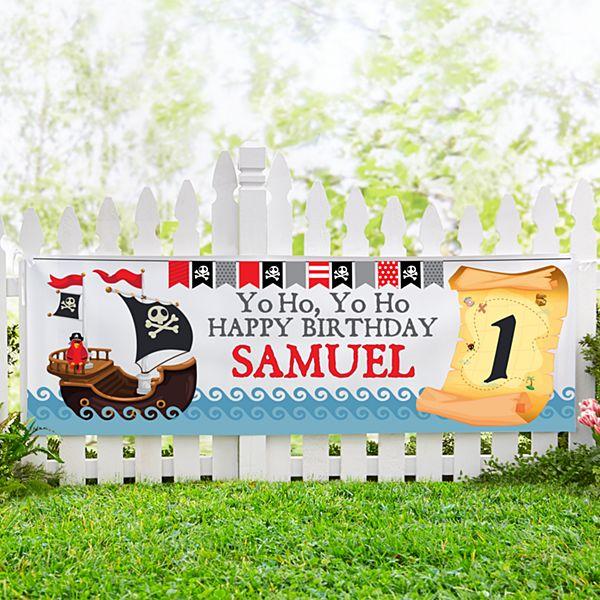 Buccaneer Birthday Banner