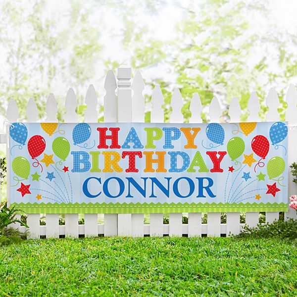Fireworks Birthday Banner